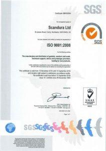 Quality Certificate, Scandura